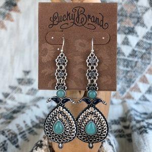 Lucky Brand Ornate Filigree Drop Earrings